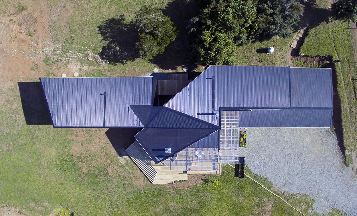 Foto de vista aérea de Casa Volcán